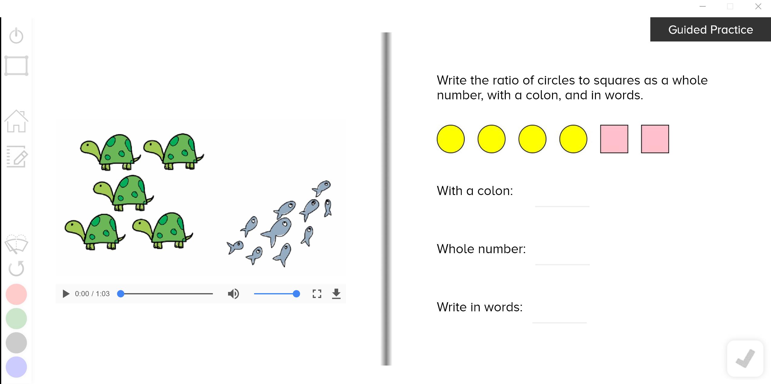 guzinta math ratio names