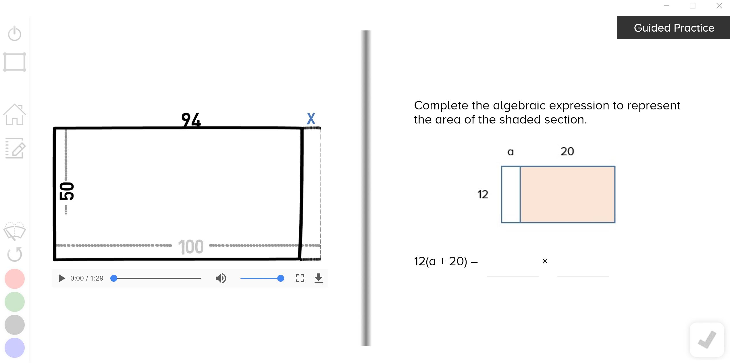 guzinta math algebraic expressions
