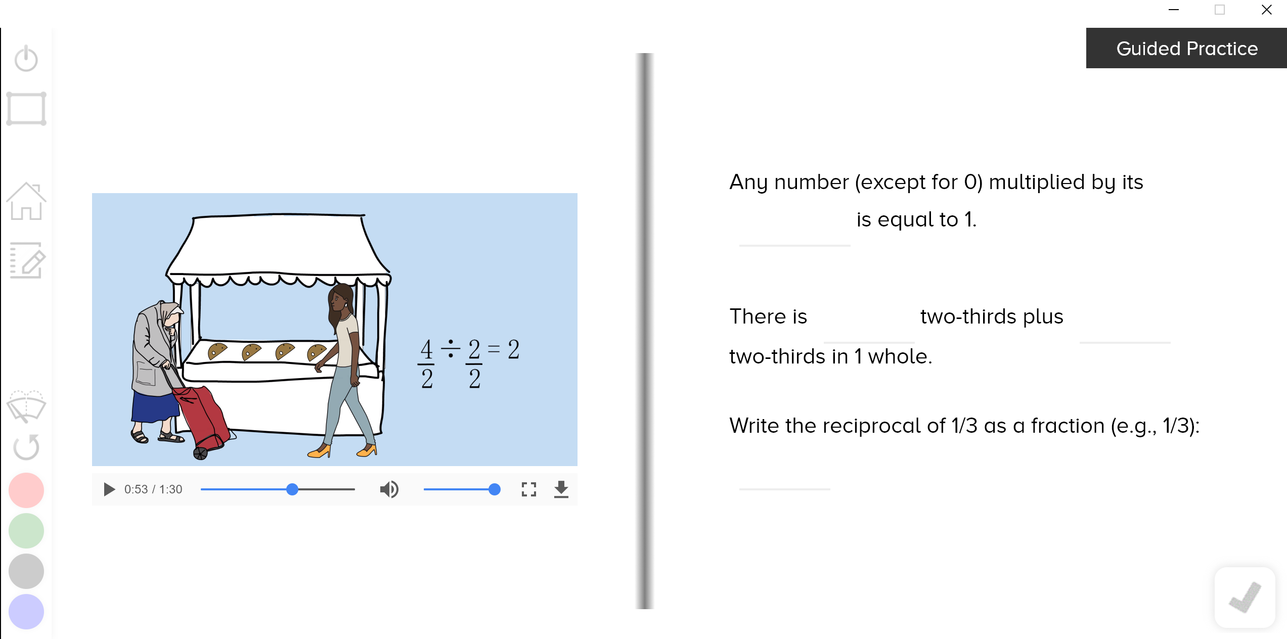 guzinta math fraction by fraction division