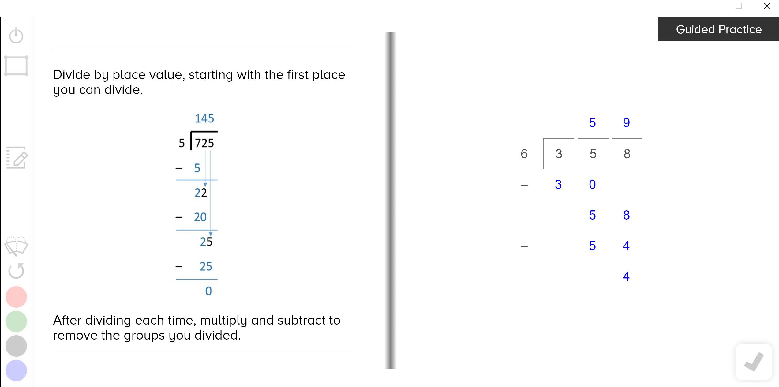 guzinta math long division