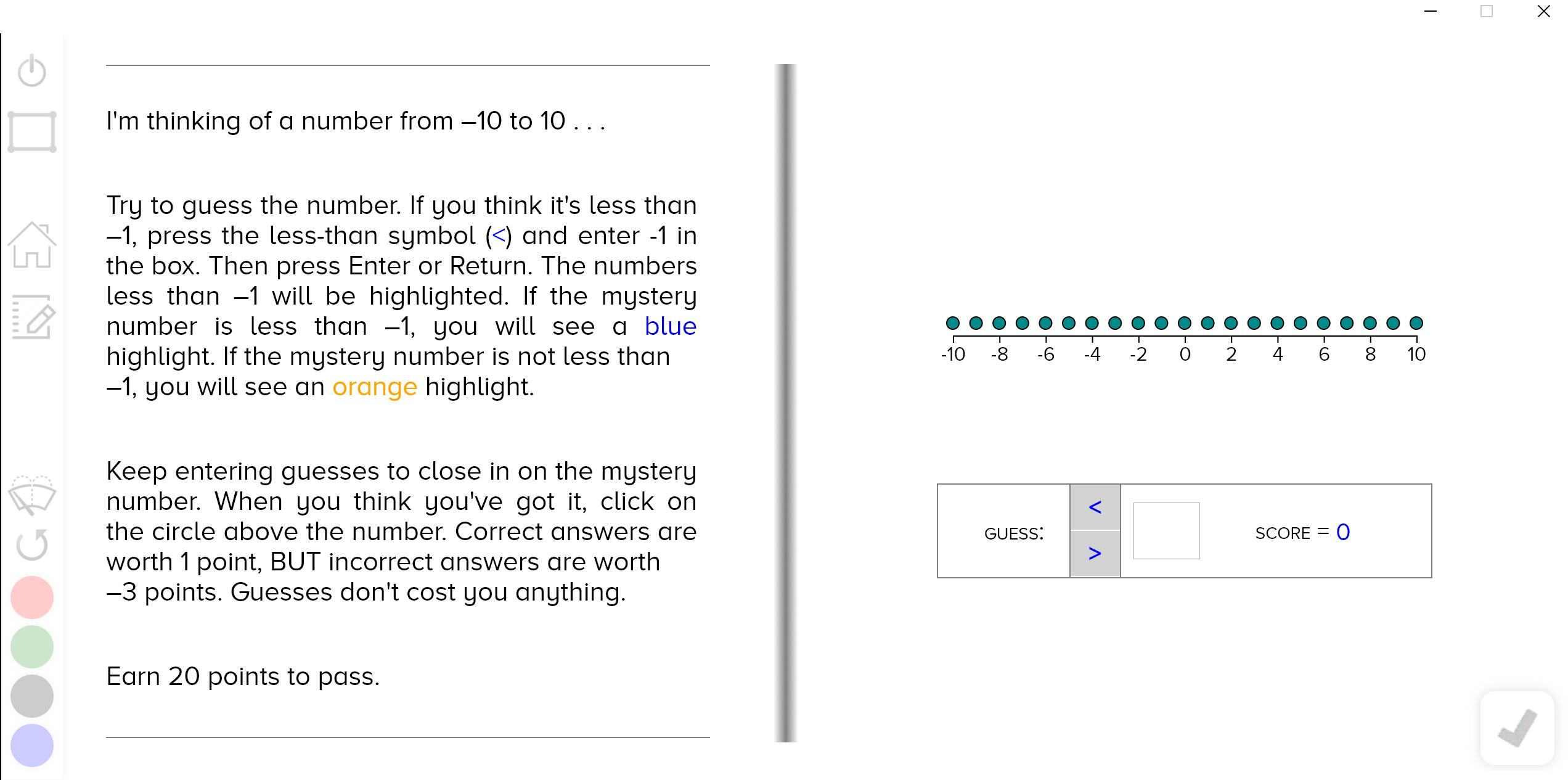 guzinta math negative numbers
